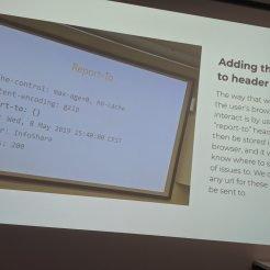 Screenshot of the Drupal reporting module