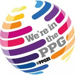 We're in the PPG #PPG21 logo