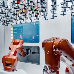 Robots serving drinks