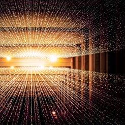 Laser lights illustrating Digital Transformation